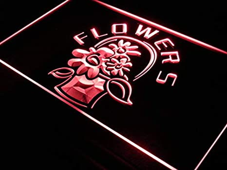 ADVPRO Open Florist Flower Shop Display LED Neon Sign Red 16 x 12 Inches st4s43-i153-r