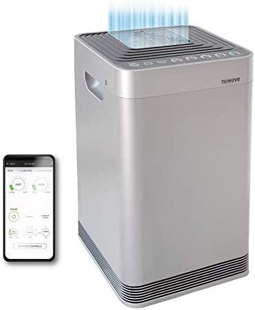 NuWave OxyPure Large Area Smart Air Purifier – Capture and Eliminate Smoke, Dust, Pollen, Mold, Pet Dander, Allergens, Lead, Formaldehyde, Gases, Bacteria, VOCs & Germs – NuWave Air Purifiers for Home