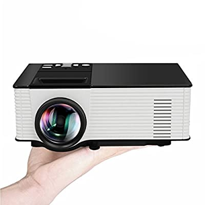 Portable Projector, ELEGIANT Portable Mini Home Theater LED Video Projector 1080P 1500 Lumens 800x480 Resolution for TV Laptop SD Android TV Box Support HDMI USB SD AV VGA TV Interface