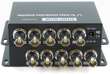 Shinybow 1×9 1 9 9-Way Composite BNC Video Splitter Distribution Amplifier SB-3702BNC