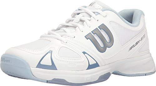 (Wilson Women's Rush Evo White/White/Stonewash Athletic Shoe)