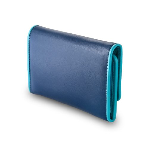 Cartera Colorida De Azul Colección Color De Capri Cuero Dudu HqT7WSnzz