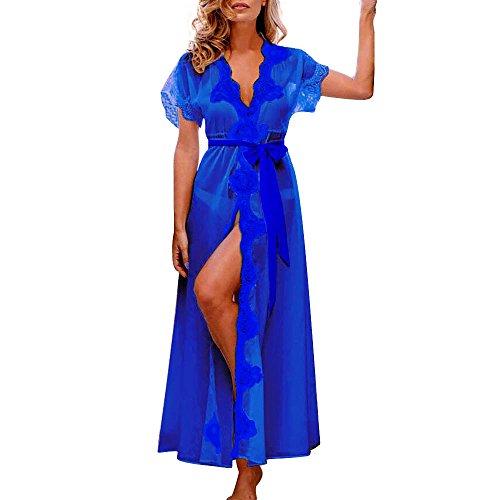Clearance!!! Pengy Women Lingerie Babydoll Sleepwear Underwear Lace Coat Nightwear (Blue, - Night Fashions Vogue Out