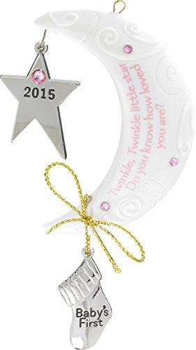 amazoncom 2015 baby girls first christmas starmoon carlton ornament home kitchen