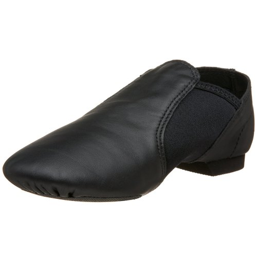 "Capezio ""E"" Series EJ2C Jazz Slip On,Black,10.5 W US Little"