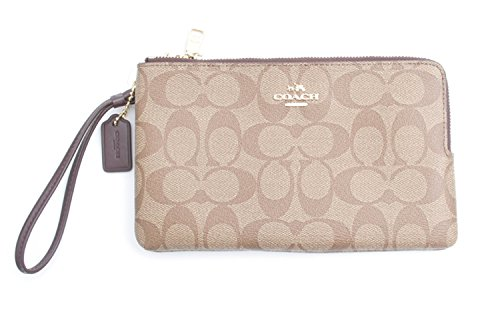 Coach Signature PVC Double Zip Wallet Wristlet by Coach