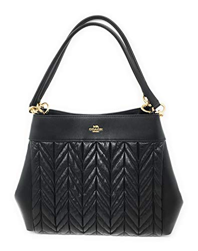 COACH F32978 LEXY SHOULDER BAG WITH QUILTING BLACK ()