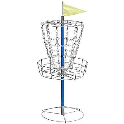 Yaheetech Disc Golf Basket - Lightweight Double Chains Portable Practice Target Steel Frisbee Hole Disc Golf
