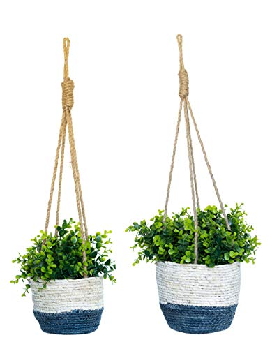 - Home & Heart Hanging Basket Planter (2, 1 Small 1 Large)