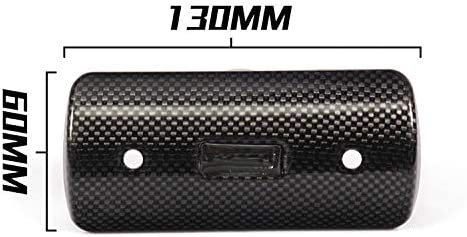 HS-02 MGOD Motorcycle Exhaust Heat Shield Carbon Fiber Muffler Cap Protector Beautiful Corrosion Resistance Durable Heat Insulation Effect,5.11inx2.36in