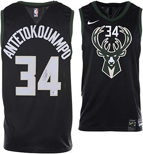 137bc121132 Giannis Antetokounmpo Milwaukee Bucks Autographed Black Nike Statement  Swingman Jersey - Fanatics Authentic Certified at Amazon's Sports  Collectibles Store