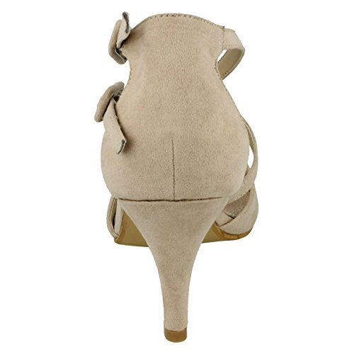 Ivory Heeled Nude F9657 Sandals Ladies On Spot Style O0BBwg