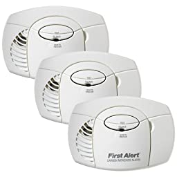 First Alert CO400-3 Battery Powered Carbon Monoxide Alarm, 3-Pack