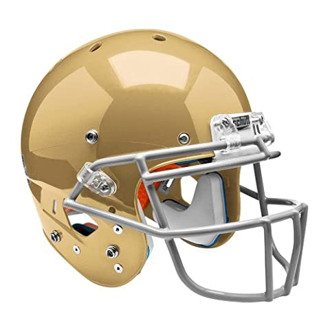 Schutt Sports Youth AiR XP Hybrid Football Helmet without Faceguard, Large, Metallic South Bend Gold - Fornito Air Caschi