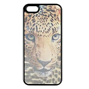 WQQ Head of Leopard Pattern 3D Protective Case for iPhone 5/5S