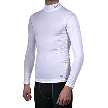 e48522dcb5 Nike Pro Core Mock Neck Long Sleeve Tight Compression Top  Amazon.co.uk   Sports   Outdoors