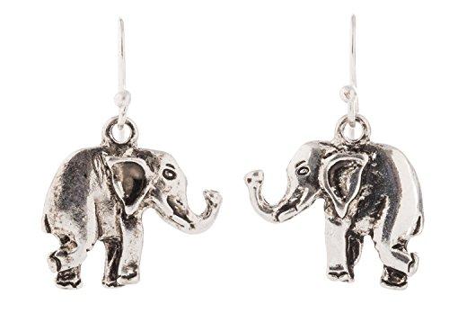 Artisan Owl Elephant Silver Earrings product image