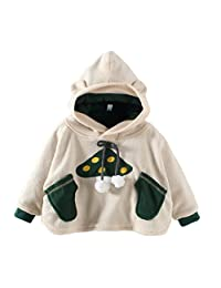 SPRMAG Baby Boys Animals Fleece Hooded Cape Cloak Poncho Hoodie Coat