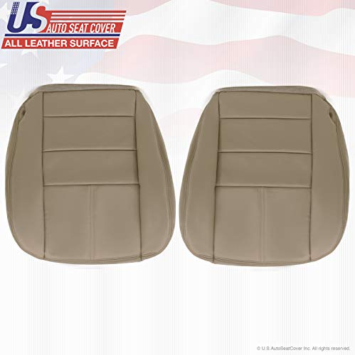 2009 Fits Ford F250 Lariat Driver & Passenger Bottom Leather Seat Cover Stone Gray 4S