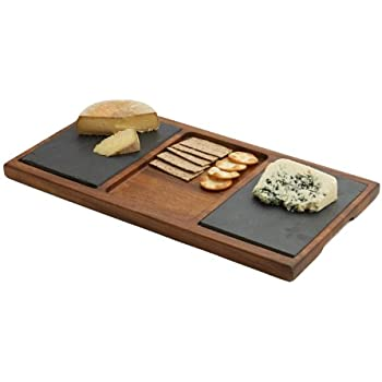 slate cheese board with chilli handles swissmar and knife set acacia wood double inch