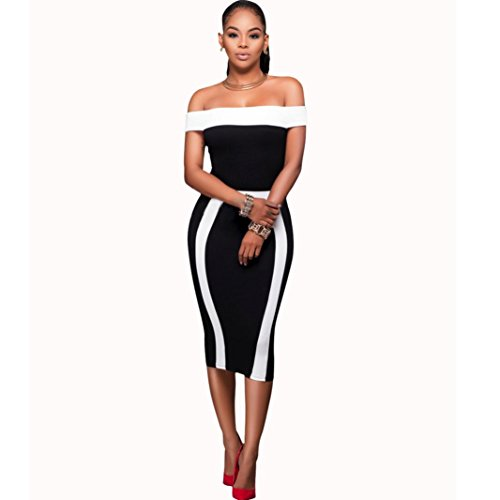 Exclusive Sleeveless Dress - Ninasill Hot Sale ! Beautiful Women Bandage Bodycon Sleeveless Dress, Exclusive Evening Party Cocktail Pencil Mini Dress (S, Black)