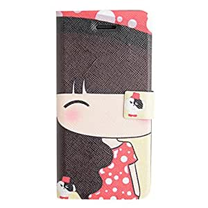 Buy Girl in Red PU Leather Full Body Case for iPhone 5/5S