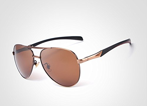 Diseño Marca polarizadas Gafas de Men Sol Shopping Go UV400 Moda Borders Brown Gafas Polarized la Gafas Gafas Color Conducción de Metal Sol Green de Easy OHpaqvv