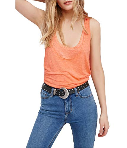 We The Free Womens Karmen Raceback Layered Tank Top Orange M