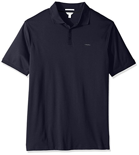 Calvin Klein Mens Big And Tall Liquid Cotton Short Sleeve Polo Shirt  India Ink  X Large T