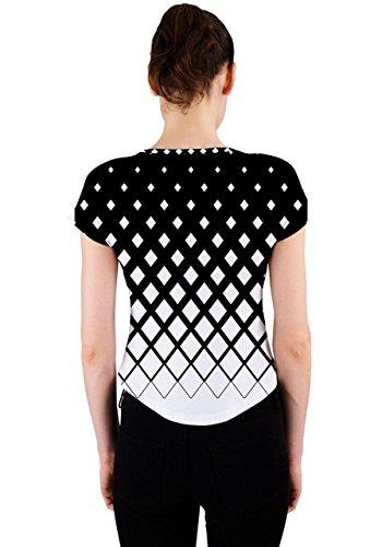 CowCow - Camiseta sin mangas - para mujer blanco y negro