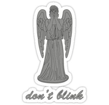 Weeping Angel -Don't Blink (script font) - Sticker Graphic Bumper Window Sicker Decal - Doctor Who Dr Who ()