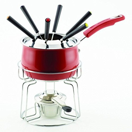 (Ship from USA) Rachael Ray 77539 - 2-Quart Fondue Set - Red /ITEM NO#8Y-IFW81854285802