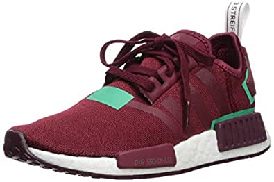 adidas Originals Women's NMD_R1 Running Shoe, Collegiate Burgundy/Collegiate Burgundy/Green, 5 M US