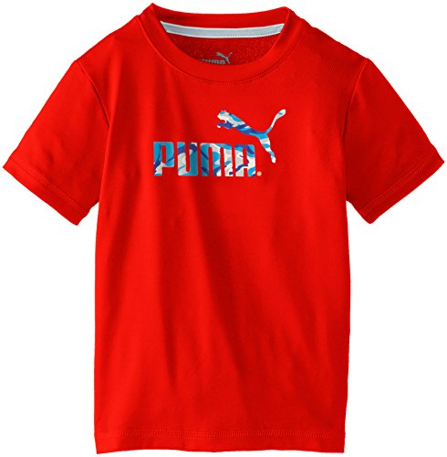 PUMA Big Boys' No.1 Logo Tee, Fire Orange, 14-16 (Large)