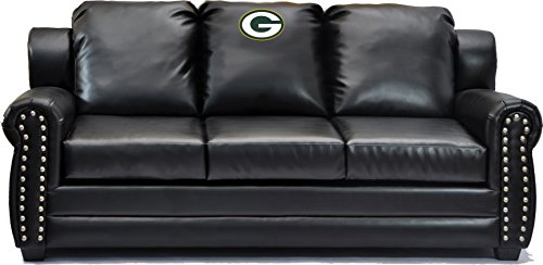 Imperial Officially Licensed NFL Furniture: Coach Leather Sofa/Couch, Green  Bay Packers