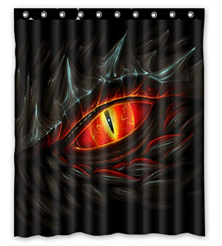 KXMDXA Glowing Red Eye of Black Dragon Waterproof Fabric Polyester Shower Curtain 60 x 72 Inch