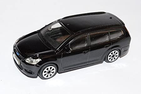 Bburago Ford Focus Kombi Schwarz 2 Generation DA3 2004-2010 1//43 Modell Auto mit individiuellem Wunschkennzeichen