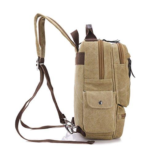 Leisure Canvas Multi Business Travel Beige Laidaye purpose Shoulder Retro Backpack w4EnxYnXqS