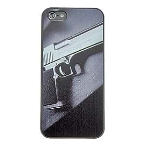 ZXC Gun Pattern Anti-scratch Matte PC Hard Case for iPhone 5/5S
