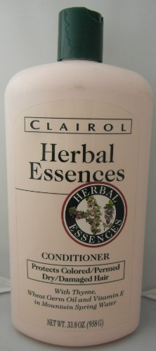 - Clairol Herbal Essences 33.8 oz Conditioner with Thyme, Wheat Germ Oil & Vitamin E for Dry/damaged/colored/permed Hair