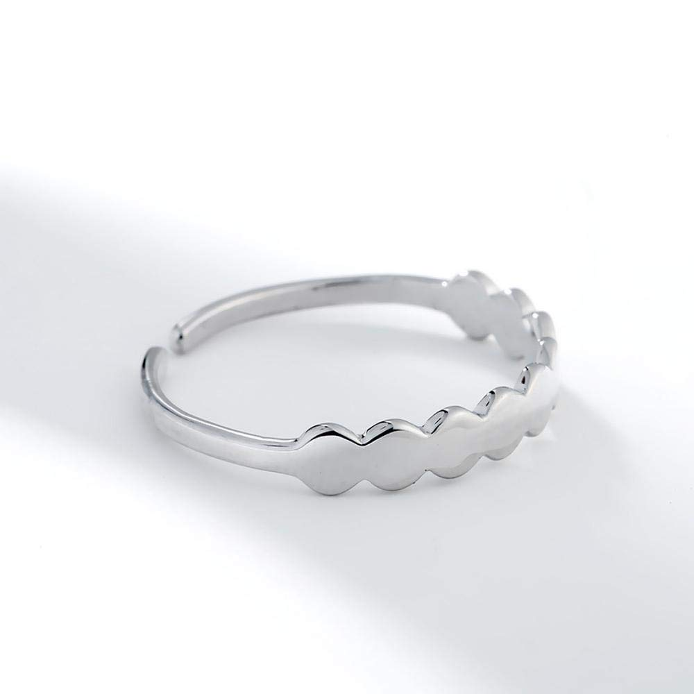 Luziang 925 Sterling Silver Ring Student Hoist Open Ring-Romantic Fashion Design