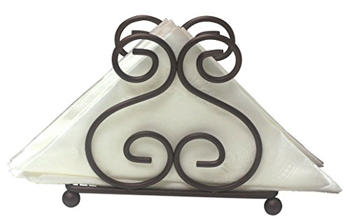 Simple Design Scroll Collection Swirl Bronze Napkin Holder Provides Decorative Storage Space For Napkins (Bronze)