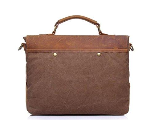 color vintage khaki in spesa borsetta borsa coffee uomo tracolla tela messenger Borsa lavoro valigetta viaggio SHOUTIBAO 5qx4wSZw