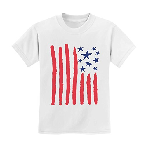 TeeStars-Childrens-Drawing-USA-Flag-4th-of-July-American-Flag-Kids-T-Shirt
