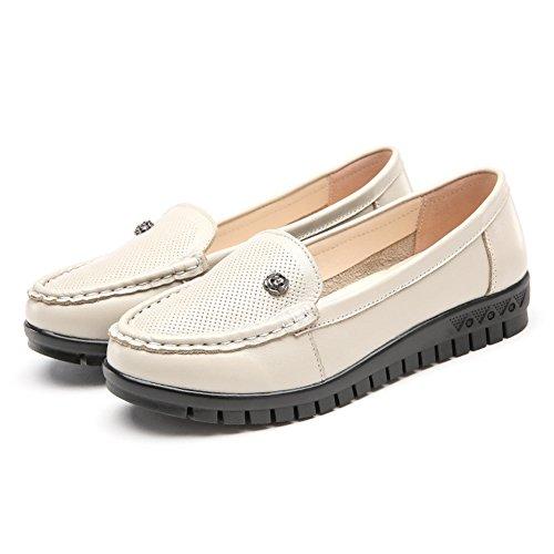 Cuero suave zapatos inferiores/Primavera patín zapatos planos/ los zapatos de tacón bajo de la boca baja A