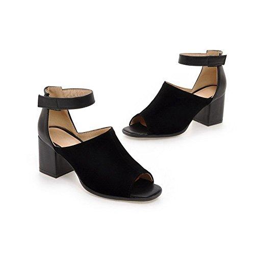 plastique sandales Noir Chunky Patins Mesdames balamasa en talons F6Bx4xwq