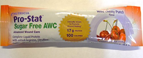 Nutricia Pro-Stat Sugar Free Complete Liquid Protein - Wild Cherry Punch Case of 24 1oz. packets