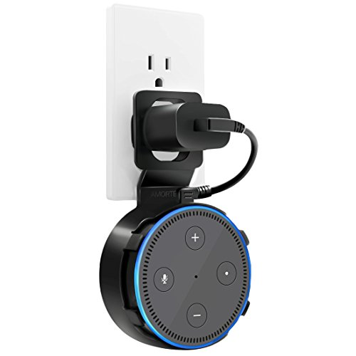 Echo Dot Wall Mount, A Space-Saving Dot Accessories for Dot (Black 1-Pack)