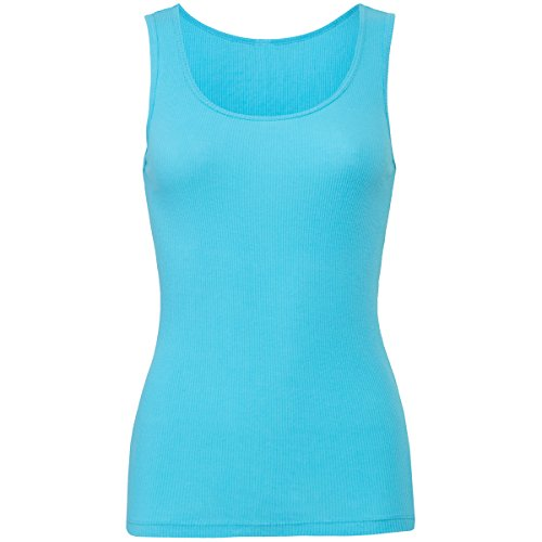 2x1 rib tank top Turquoise M