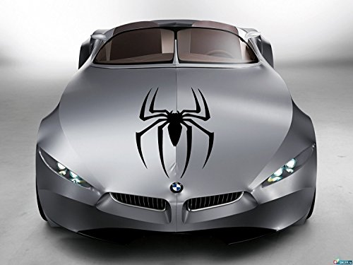 Spider Vinyl - Car Hood Vinyl Sticker Decal Graphics super hero web famous spider SL71 (15x23)